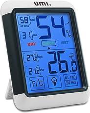Umi. by Amazon-Higrómetro Digital Termómetro Interior Inalámbrico Medidor Humedad y Temperatura Habitación Medidor para Hogar