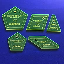 Plantilla para Patchwork Millefiori (la passcaglia) 1,5 Pulgadas