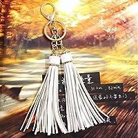 tfxwerws Creative Handtasche Anhänger Leder Quaste Schlüsselanhänger Auto Schlüsselring Weiß