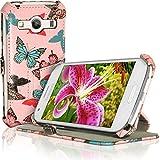igadgitz U3537 Premium Folio Eco Pelle Custodia Case Cover per Samsung Galaxy Ace 4 SM-GT357FZ con Pellicola - Nero