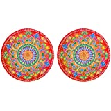 DollsofIndia Pair Of Rangoli Stickers - Dia - 9 Inches Each (RX01)
