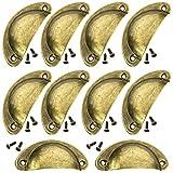 [ JBS basics ] Muschelgriff [ 10 Stück ] antik Griffe Möbel [ mit Schrauben ] Shabby Chic...