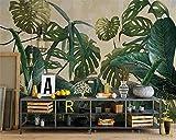 Wapel Custom 3D-Tapeten Fototapete Tropische Pflanze Grün Blatt Weinberg Fototapete Hintergrund Wand Tapeten Für Wände 3D Seidenstoff 400x280CM