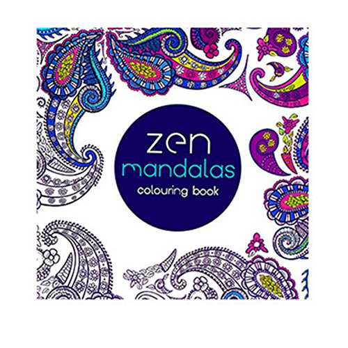 CLrute 2017 Spaß Erwachsene Färbung Buch Entwürfe Stress Relief Malbuch Zen Mandalas (Erwachsene Malvorlagen)