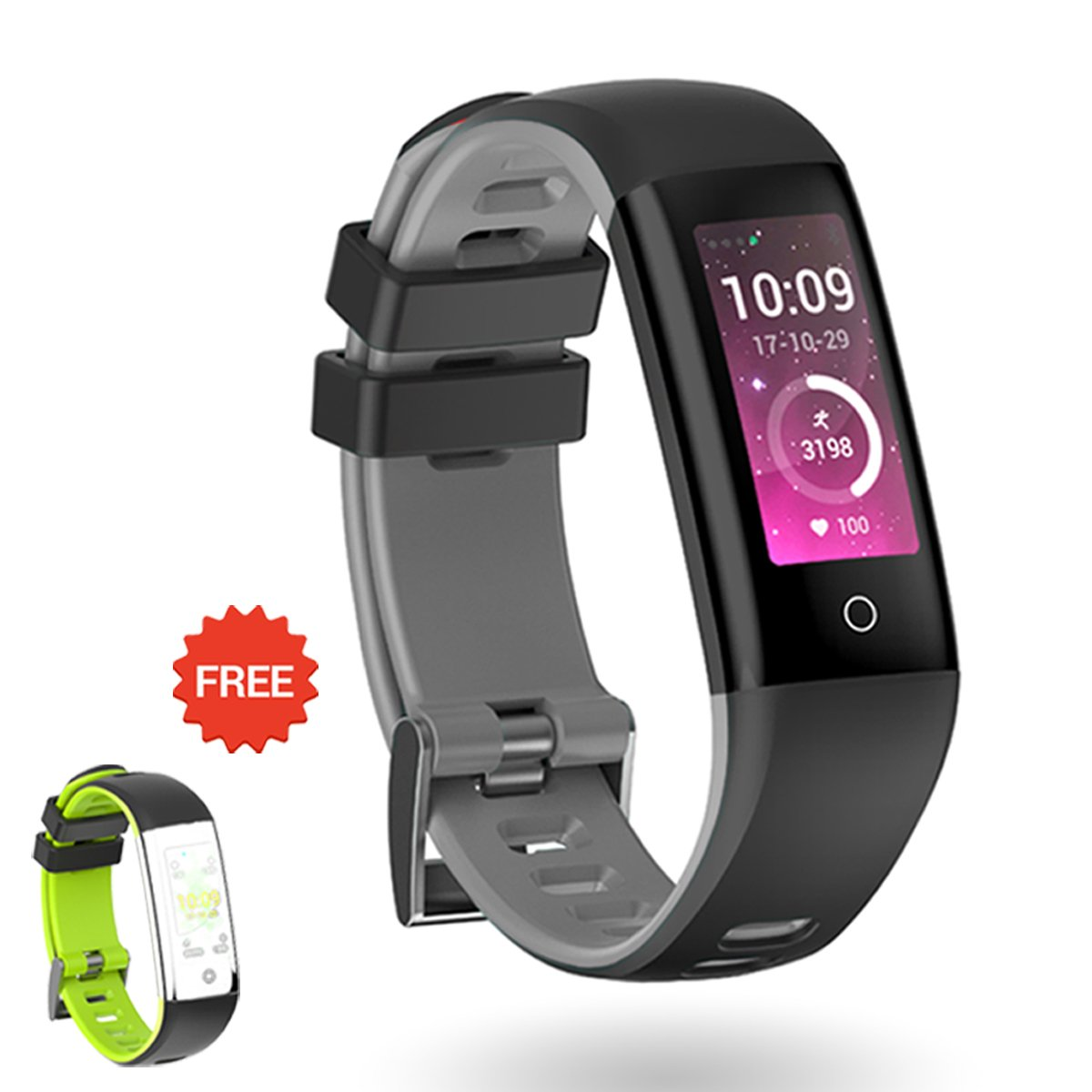 AUNEY Fitness Tracker Activity Tracker Color Screen Sport Band Smart Wristband Bracelet Waterproof Heart Rate Sleep Monitor Pedometer for IOS and Android