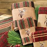 Moose-Stripe-Towel-Set-3-pcs-Rustic-Bathroom-Accessories