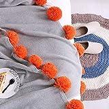 Upstudio Warme Schlafsofa Decke Baumwolle farblich passender Kugelteppich Baumwollklimaanlage Decke Wind Sofa Decke Dekorative Decke Foto Decke (Farbe: Grau, Größe: 130 × 160 cm)