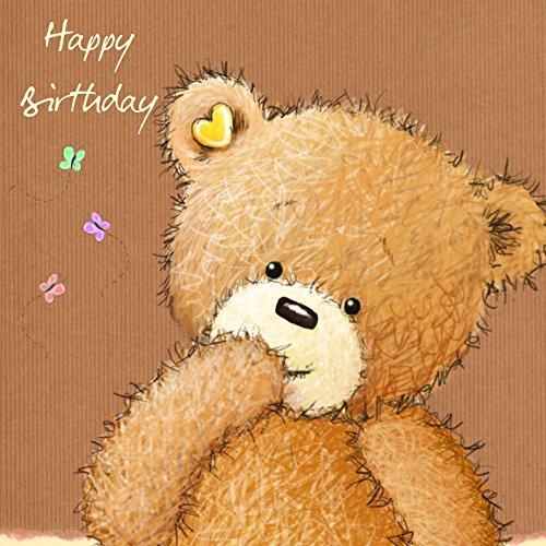 twizler Popcorn der Bär Happy Birthday–Mädchen Geburtstag Karte–Jungen Geburtstag Karte–Geburtstagskarte–Stecker Geburtstag–Geburtstag Karte für Sie–Geburtstag Karte, für Ihn–niedliche Geburtstagskarte (Happy Birthday Karten Für Mädchen)