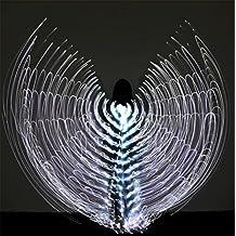 Byjia Mujeres Belly Baile Isis Alas Led Luz 360 Grados Grandes Mariposa Aditamentos Traje Profesional Rendimiento Profesional 1# F