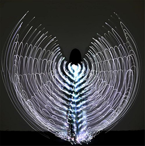 Frauen Belly Dancing Isis Wings LED Light 360 -