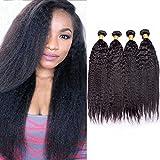 Maxine Yaki Straight Hair 3 Bundles Malaysian Human Hair Natural Color Hair Extension For Women (12 14 16)