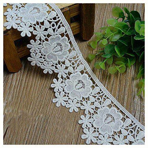 Weiß 3Meter Stoff Venise Lace Trim Kleid Spitze Craft Lace Nähen Spitze 5,9cm breit - Spitze Stoff Trim Doll