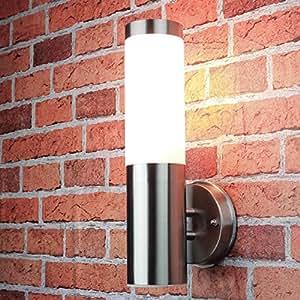Edelstahl Wand-Außenleuchte IP44 Außenlampe Hoflampe Gartenlampe Gartenleuchte Wandlampe 1003up