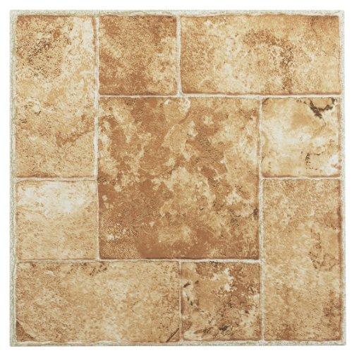 Achim Home Furnishings ftvma42020Nexus 12Zoll Vinyl Fliesen, Marmor beige terracotta, 20er Pack
