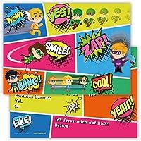 12 Lustige Einladungskarten Im Set Für Kindergeburtstag Party Mit  Superhelden Für Jungen Mädchen Kinder Top Geburtstagseinladungen