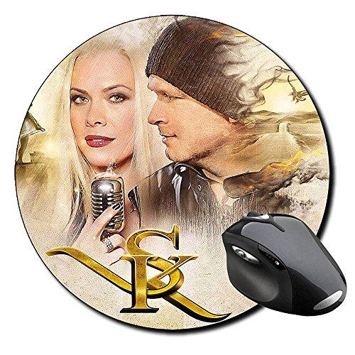 Michael Kiske Amanda Somerville Tappetino Per Mouse Tondo Round Mousepad PC