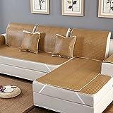 QINQIN Europäische Sommer Couchbezug Wildleder,Anti-Rutsch-Eis Seide Rattan Slipcover Europäischen 1 stück Sofa slipcover-F 80x100cm(31x39inch)