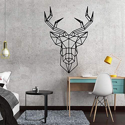 ch Geometrie Aufkleber Wandkunst Aufkleber Modernes Wohnzimmer Kinderzimmer Wanddekoration Aufkleber Wandaufkleber rot L 43 cm X 52 cm ()
