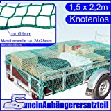 Ladungssicherungsnetz Anhängernetz für Pkw Anhänger 1,5 x 2,2m knotenlos