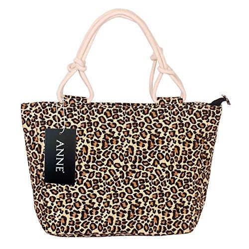 Anne, Borsa a secchiello donna nero Soil leopard Soil leopard