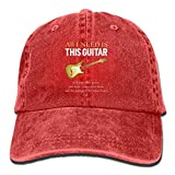 Voxpkrs All I Need is This Guitar Baseball Hat Men and Women Summer Sun Hat Travel Sunscreen Cap Fishing Outdoors DV903