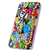 Sticker Bomb Funky Style Designer iphone 5 5s Coque arriere Coque Case-Effacer Frame