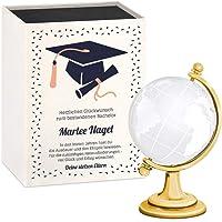 Murrano Glas-Globus - mit gravierter Weltkarte - in personalisierter Box - Kristallglobus - Weltkugel - Briefbeschwerer…
