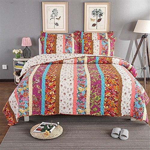 RFVBNM Sommer Klimaanlage Bettdecke Doppeldecke amerikanischen Stil waschen Baumwolle Patchwork Quilten, A 230 * 250 cm (Quilten Patchwork Amerikanischer Quilten)