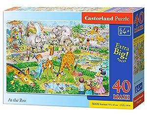 Castorland At The Zoo 40 Maxi pcs - Rompecabezas (Rompecabezas para Suelo, Dibujos, Preescolar, Niño/niña, 4 año(s), Interior)