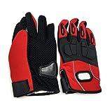 Pro-Biker Motorcycle Full Finger Gloves, Red - C36-3