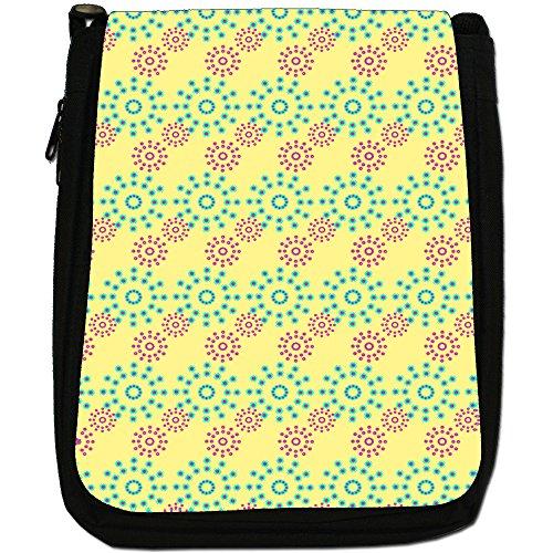Fancy A Snuggle, Borsa a spalla donna Pink & Blue Flower Pattern