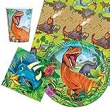 Party Bags 2 Go dinosaures couverts de fête lot pour 8