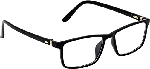 HRINKAR Black Rectangle and Square Bifocal and Single Vision Latest Optical Spectacle Chasama Frame - HFRM-BK-16