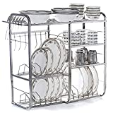 #3: Home Creations 24 Inch Wall Mount Kitchen Dish Rack Plate Cutlery Stand / Kitchen Utensils Rack / Modern Kitchen Storage Rack