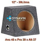 "Caja acústica universal para subwoofer de 8"" (200mm), 10"" (250mm), 12"" (300mm), 15"" (380mm), 18"" (450mm) (12"", Gris Oscuro)"