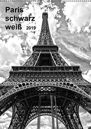 Paris schwarz weiß 2019 (Wandkalender 2019 DIN A2 hoch): Entdecken Sie Paris in wundervollen schwarz-weiß Aufnahmen (Monatskalender, 14 Seiten ) (CALVENDO Orte)