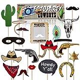 Lumaland, Accessoires de fête, trousse Cow Boy 30 Pièces et accessoires photo pour différentes occasions