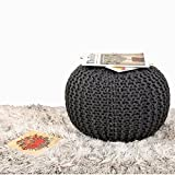#8: The Intellect Bazaar Premium Knitted Pouf (15*15*14 inches), Grey