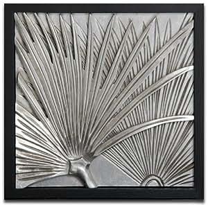 Rahmenbild relief en feuille de palmier design tableau motif 45 x 45 cm