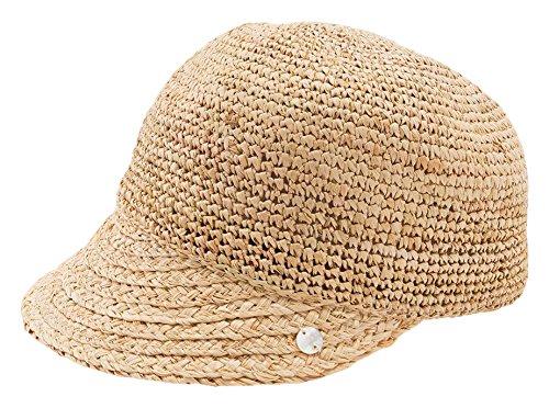 ESPRIT Damen Schirmmütze 046EA1P007-aus Stroh, Beige (Sand 285), Small