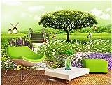 Weaeo 3D Wallpaper Custom Photo Frisches Gras Garten Tv Hintergrund Wand Home Decor Wohnzimmer 3D Wandbilder Tapeten Für Wände 3D-280 X 200 Cm