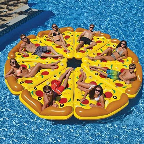 Sommer\'s Laden Pizza Aufblasbarer Schwimmring Matratze Wasserhängematte, 180×150CM PVC Tragbare Schwimmbecken Float Für Den Strand