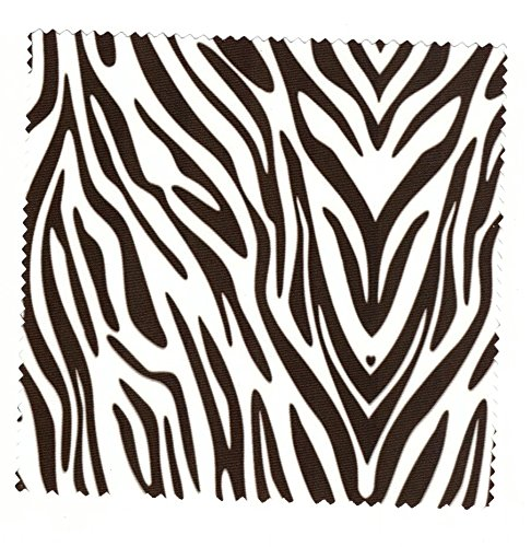 Microfasertuch zum Brille reinigen - Motiv Zebra - Brillenputztuch NEU