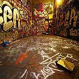 CapiSco Fotohintergrund Fotografie Stoffhintergrund Stoff Hintergrund Fotostudio Grafitti 3 * 3m TA25