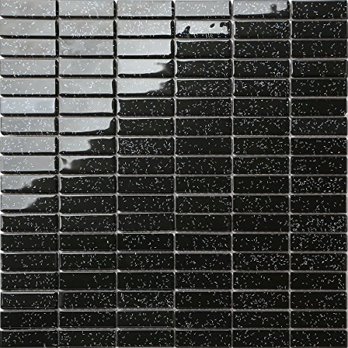 1QM Cristal Mosaico (Formato ladrillo en negro con más colores purpur