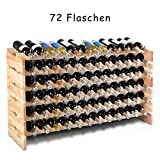 COSTWAY Weinregal aus Holz Flaschenregal