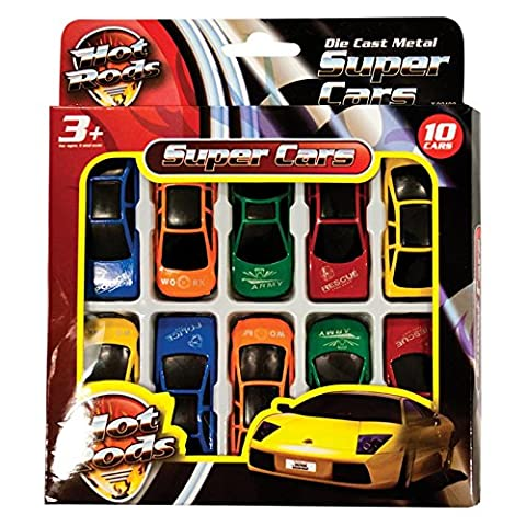 HOT RODS Toy Cars - 10 Pack - Ideal gifting toy