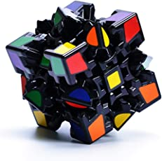 AdiChai Multi Coloured 3 by 3 Stickered GEAR Cube - 3 X 3 , 3x3 , 3 by 3 Cube