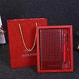 Sun Glower Forniture scolastiche per ufficio Set regalo per notebook Creative Feel regalo aziendale (rosso vino) Set regalo di articoli di cancelleria