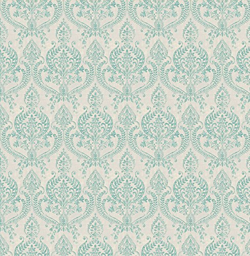 BHF sz001819Kismet Wander Petite damasco papel pintado–turquesa